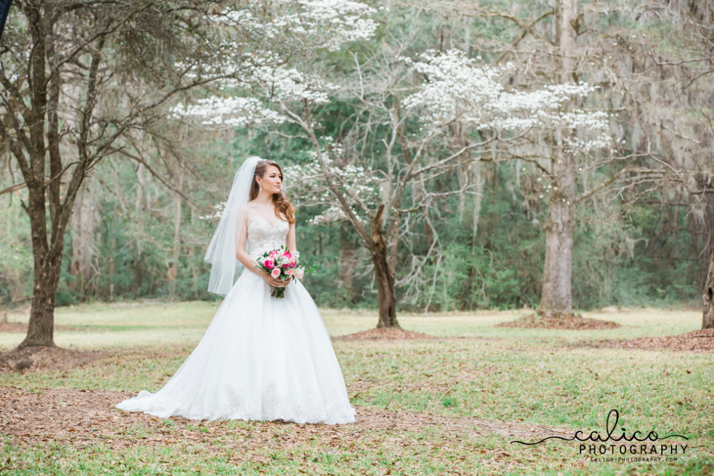 bridal portrait mepkin abbey south carolina